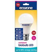 Ecozone B22 Ambient LED Biobulb - 14 Watt - 100 Watt Equivalent