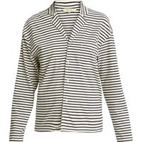 People Tree Organic Long Sleeve Pyjama Top - Navy Stripe