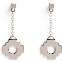 Inkana Silver Chakana Droplet Earrings