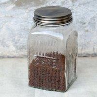 Glass Cafe Coffee Jar