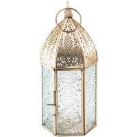 Antique Brass Moroccan Style Medium Lantern