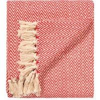 Chevron Soft Cotton Handloom Throw - Red