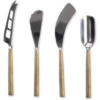 Darsa Brushed Gold Cheese Knife Set - Set of 4
