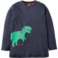 Frugi Joe Navy Dino Applique Top