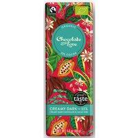 Chocolate & Love Organic & Fairtrade Creamy 55% Dark with Cacao Nibs Chocolate Bar - 40g