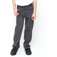 Boys Slim Fit School Trousers With Adjustable Waist 7+