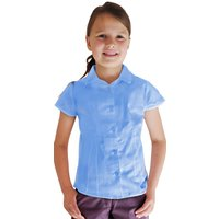 Blue Short Sleeve Blouse - 4yrs+