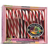 Strawberry Candy Canes - Pack of 12