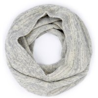 Ally Bee British Alpaca Blend Snood - Grey and Cream Marl