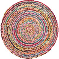 Multi Coloured Braided Rug - Large