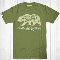 Mens Dont Feed the Bears Fair Wear Cotton T-Shirt