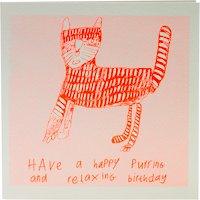 Arthouse Meath Charity Purring Birthday Card