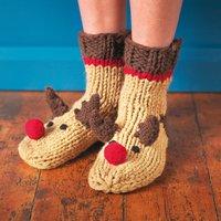 Christmas Rudolf Socks