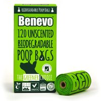 Benevo Biodegradable Poop Bags - 120 bags.