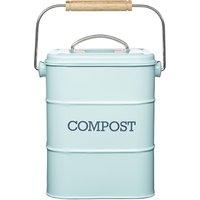 Living Nostalgia Vintage Blue Compost Bin