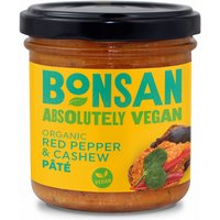 Bonsan Cashew & Bell Pepper Vegan Pate - 130g
