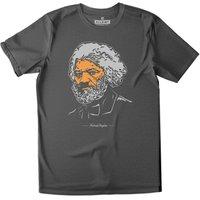All Riot Frederick Douglass Organic T-shirt - Charcoal
