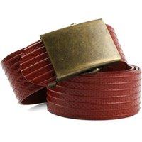 Elvis & Kresse Reclaimed Firehose Slider Belt - Red