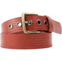 Elvis & Kresse Reclaimed Firehose West End Belt - Red