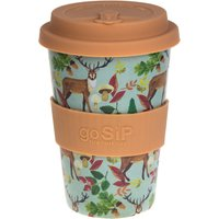 Rice Husk Reusable Coffee Cup - Stags Acorns & Leaves - 400ml