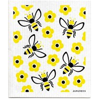 Jangneus Design Yellow Bees Patterned Dish Cloths - Set of 4.