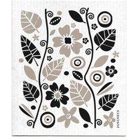 Jangneus Design Black & Grey Patterned Dish Cloths - Set of 4.