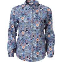 Nomads Sea Blue Floral Cotton Voile Shirt