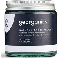 Georganics Natural Toothpowder - Activated Charcoal - 120ml.