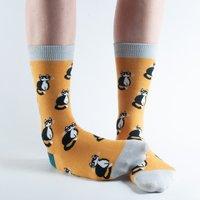 Doris & Dude Gold Cats Bamboo Socks