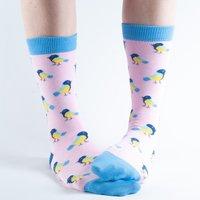 Doris & Dude Pink Birds Bamboo Socks