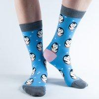 Doris & Dude Blue Penguin Bamboo Socks