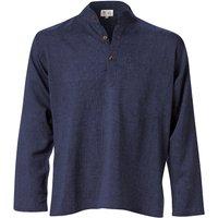 Cotton Khaddar Long Sleeve Shirt - Navy