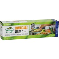Biobag Compostable Bin Liners with Handles - 20L - Roll of 20