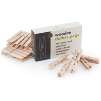 ecoLiving Wooden Clothes Pegs.