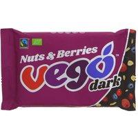 Vego Nuts & Berries Dark Chocolate Bar - 85g.