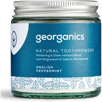 Georganics Natural Toothpowder - English Peppermint - 120ml.