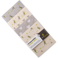 ecoLiving Compostable Sponge Cleaning Cloths - Wildlife Rescue - Pack of 4