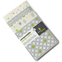 ecoLiving Compostable Sponge Cleaning Cloths - Leaf Cube Plus Stars - Pack of 4