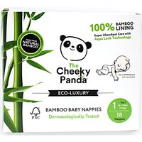 The Cheeky Panda Bamboo Baby Nappies - Size 1 - Pack of 18.