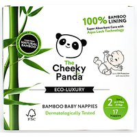The Cheeky Panda Bamboo Baby Nappies - Size 2 - Pack of 17.