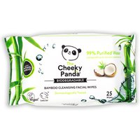 The Cheeky Panda Biodegradable Facial Cleansing Wipes - Coconut - 25 Wipes.