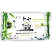 The Cheeky Panda Biodegradable Facial Cleansing Wipes - Rose - 25 Wipes.