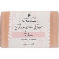 Fair Trade Solid Shampoo Bar - Rose - 100g.