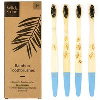 Wild & Stone Adult Bamboo Toothbrush - Firm - Pack of 4.