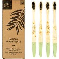 Wild & Stone Adult Bamboo Toothbrush - Medium - Pack of 4.
