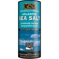 Geo Organics Atlantic Fine Ground Sea Salt.