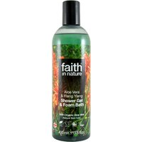 Faith In Nature Aloe Vera & Ylang Ylang Shower Gel & Bath Foam - 400ml