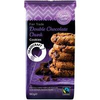 Traidcraft Fairtrade Double Chocolate Chunk Cookies 180g