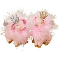 Deko Figur Schwein Piggy ca. 8 x 5 x 6 cm 2fach sortiert Rosa