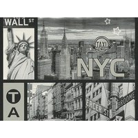 A.S. Creation Strukturprofiltapete Faro 4 New York Grau